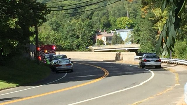 Two people were struck on Route 44 in New Hartford. (WFSB photo)