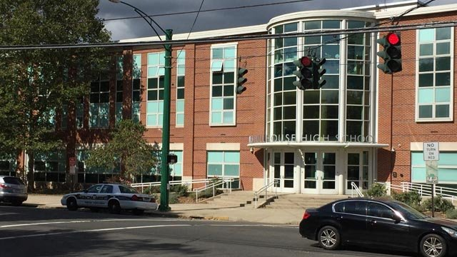 Hillhouse High School in New Haven. (WFSB photo)