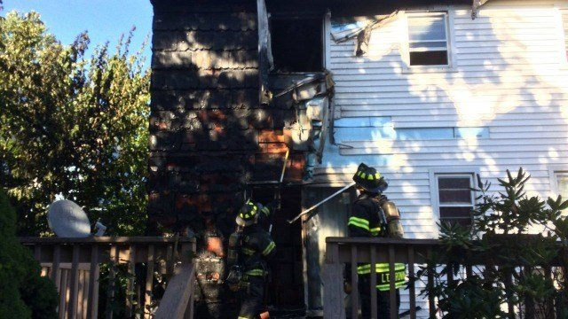 Officials responded to a house fire on Longmeadow Avenue Friday. (Fairfield FD)