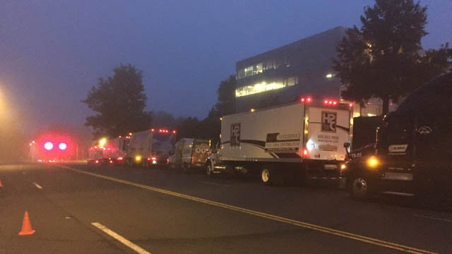 The Convoy of Caring was set to depart from Rocky Hill Tuesday morning on its way to Foodshare in Bloomfield. (WFSB photo)