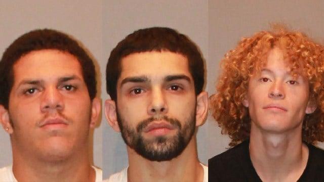 Damian Brito, Angel Cabrera and Marcus Gonzalez. (West Hartford police photos)