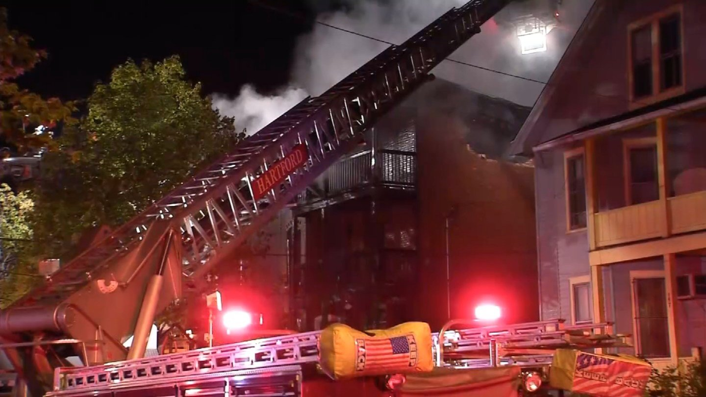 A fire at this abandoned building on Babcock Street was found to have been intentionally set. (WFSB photo)