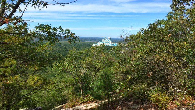 View of Foxwoods Casino from top of Lantern Hill