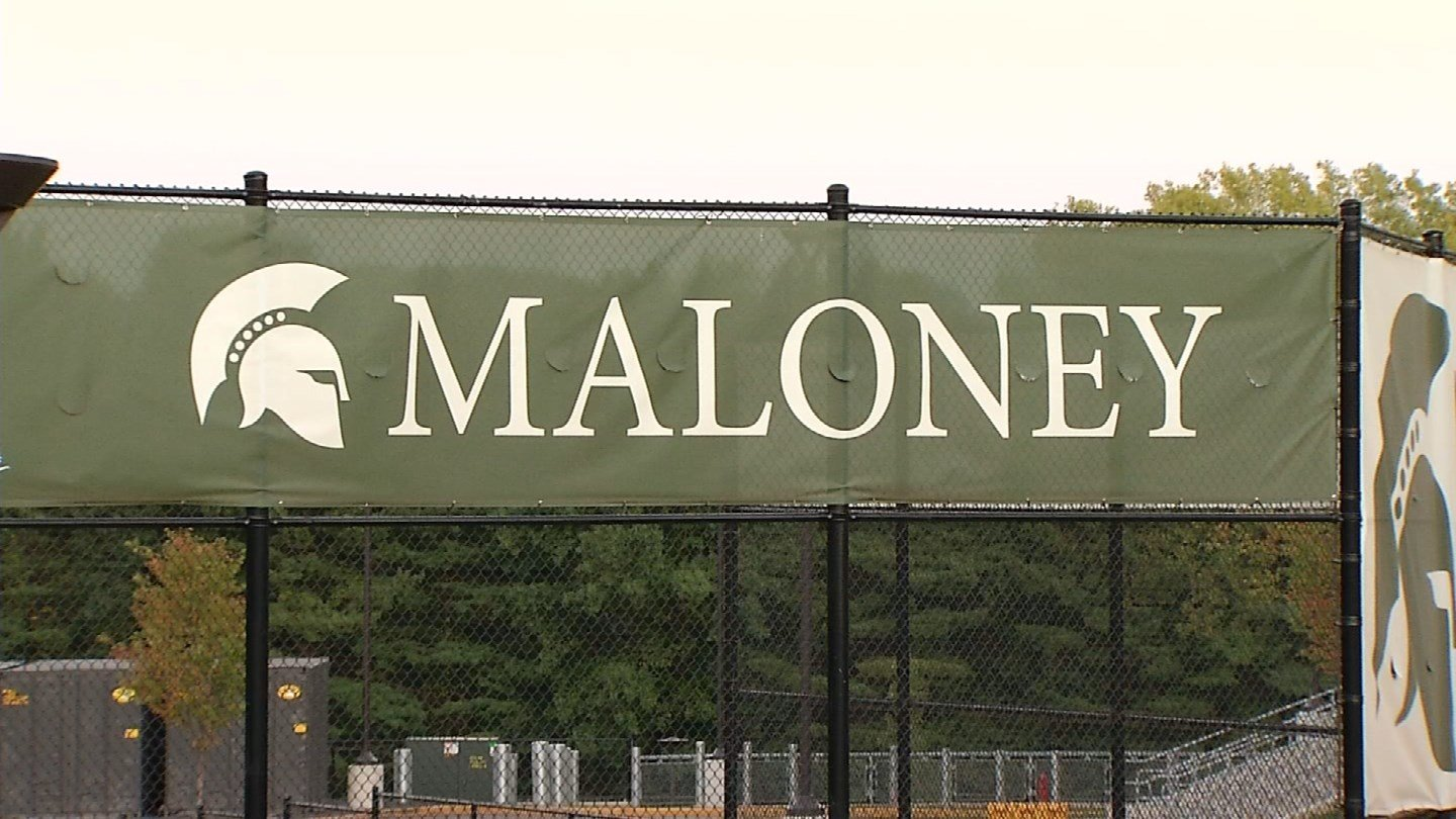 Maloney High School in Meriden. (WFSB photo)
