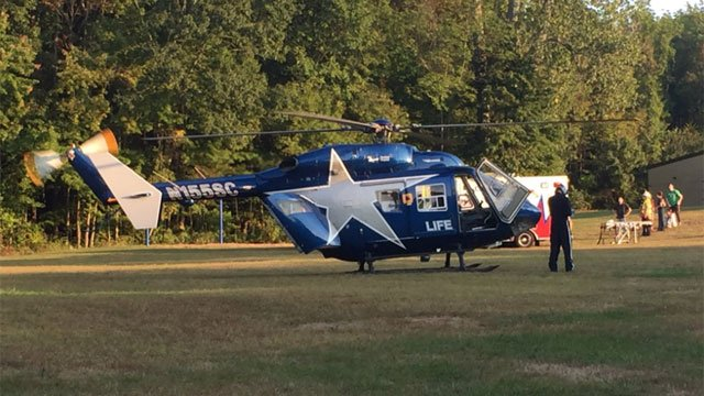 Life Star medical helicopter was called to the scene of a pedestrian stuck by a motor vehicle in Coventry. (@map2271)
