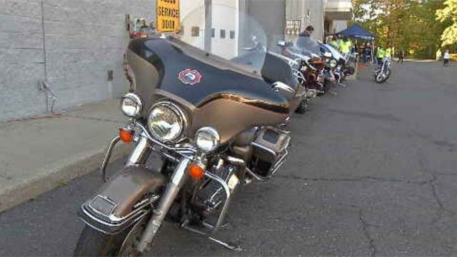 Hundreds participated in the annual Ride for Justice on Sunday.  (WFSB)
