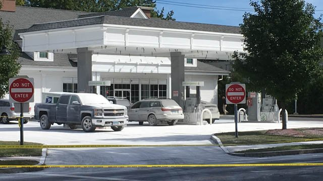 A fire suppression chemical sprayed a Cumberland Farms in Deep River Monday, sending several people to local clinics. (WFSB photo)