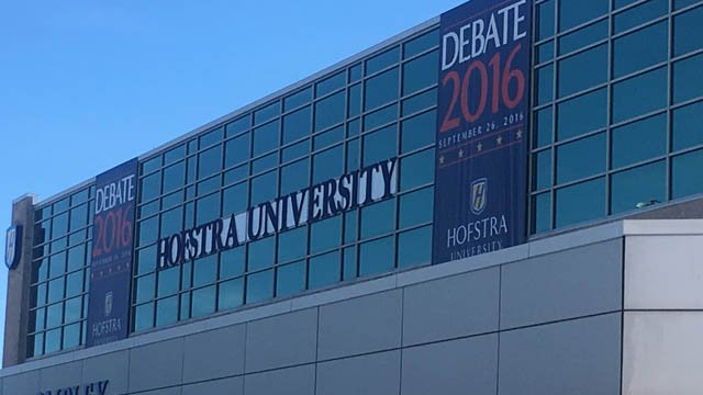 The first presidential debate between Hillary Clinton and Donald Trump is being held at Hofstra University (WFSB)