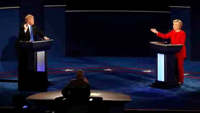Hillary Clinton and Donald Trump faced off in the first presidential debate on Monday (AP Images)