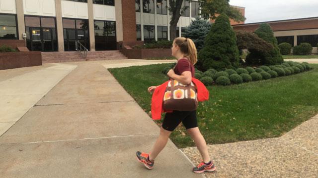 Eversource employee Alex Lamparski is running half marathon with her sister for her dad. (WFSB)
