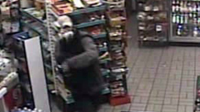 Manchester police are looking for two masked men who robbed a gas station Saturday morning. (Manchester PD)