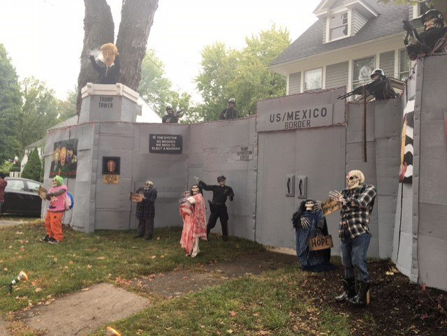 a west hartford homeowner created a display inspired by the 2016 election wfsb - Halloween Decor 2016