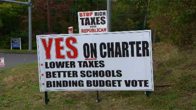 The town of Berlin is split on charter changes (WFSB)
