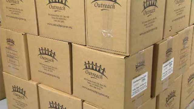 Packages have been prepared to be sent to Haiti (WFSB)