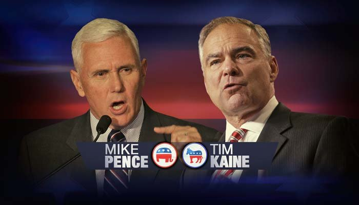 The two vice presidential candidates debated at Longwood College on Tuesday night. (AP)