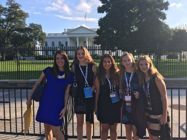 Some middle schoolers from Connecticut paid a visit to the White House this week. (Breanne Pitt)