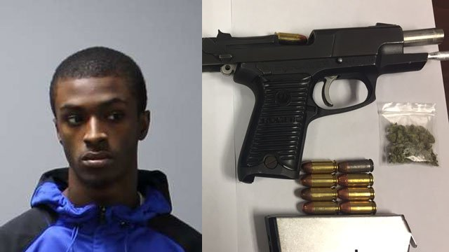 A motor vehicle stop on Interstate 91for a seat belt violation lead to the arrest of Obbie Prude on gun charges. (CT State Police)