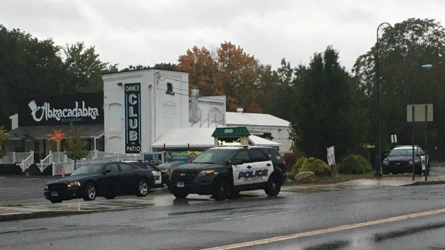 Police are investigating outside of Abracadabra night club. (WFSB)