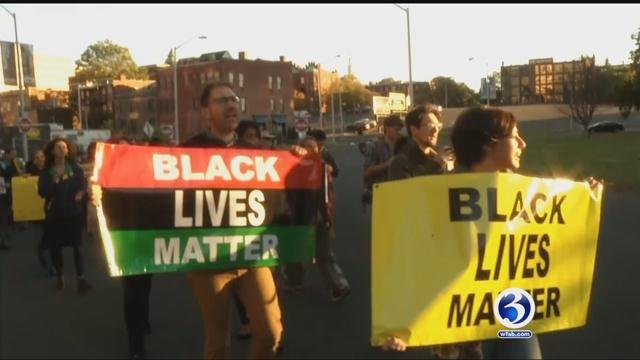 Protesters stand up against police brutality investigation in Hartford (WFSB)