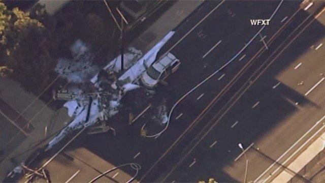 Investigators remained on the scene well into Wednesday morning following Tuesday's deadly plane crash. (WFXT)