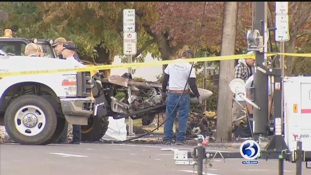 Crews pull wreckage from Main Street and send it to a facility in Delaware (WFSB)