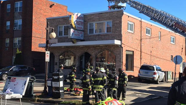 A fire was reported at the Modern Pastry Shop in Hartford. (WFSB photo)
