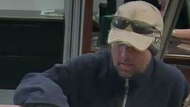 Police released this photo of the alleged suspect in a robbery at TD Bank on Hopmeadow Street. (Simsbury police photo)