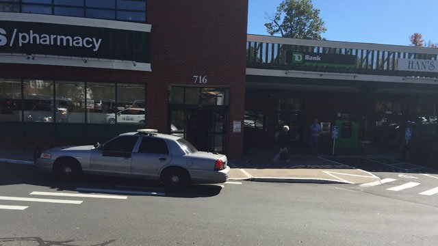 Police were investigating a bank robbery in Simsbury. (WFSB)