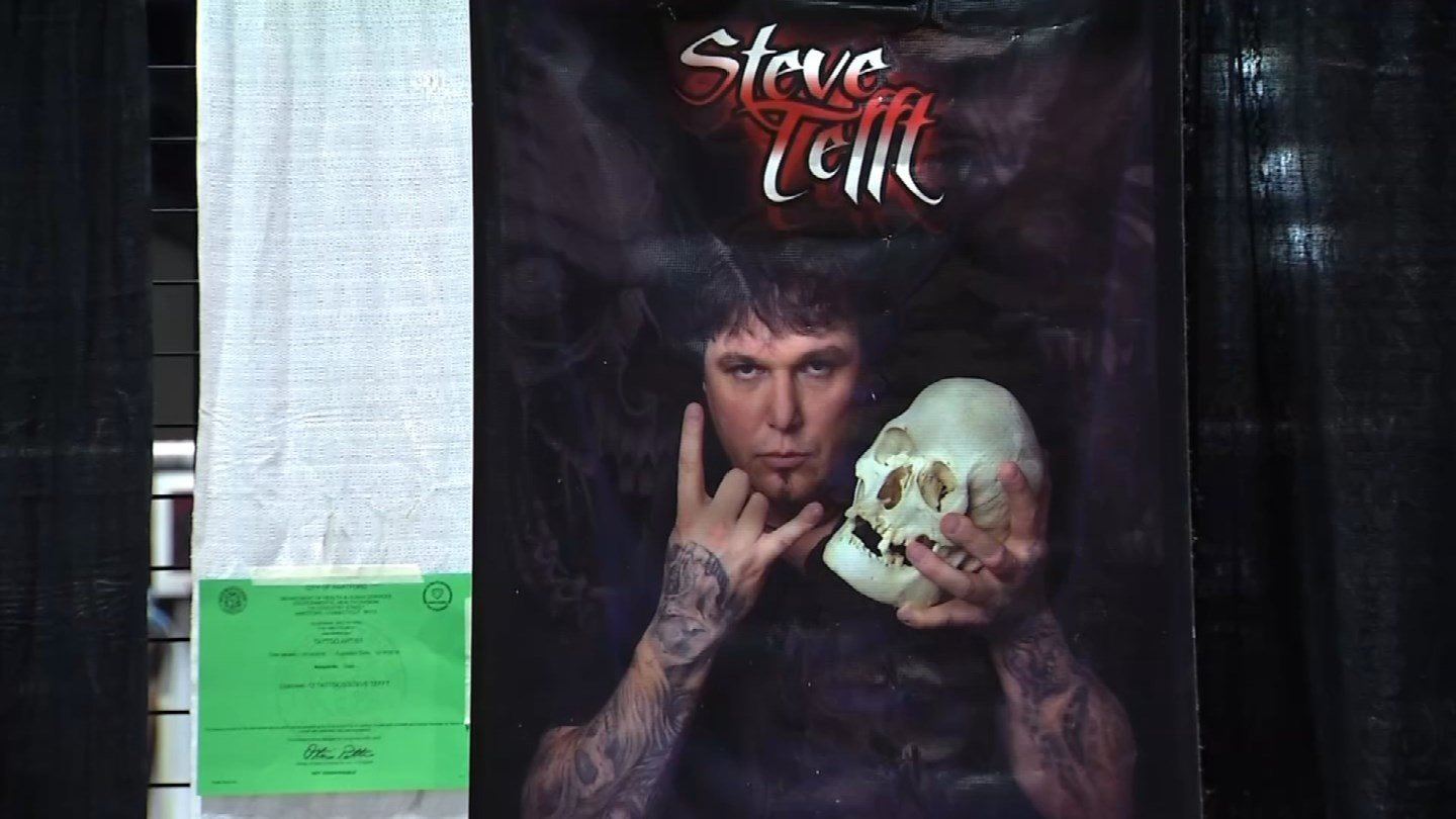 Steve Tefft was one of the featured artists at Tommy's Tattoo Convention. (WFSB)