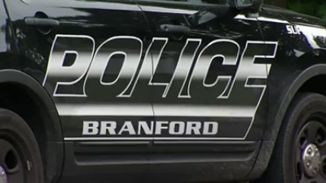 """Branford police urge residents to give them """"the bird"""" for their annual food drive. (WFSB file photo)"""