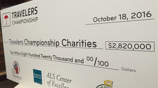 More than $2.8 million was raised for charities during the 2016 Travelers Championship, according to an announcement on Tuesday.  (WFSB)