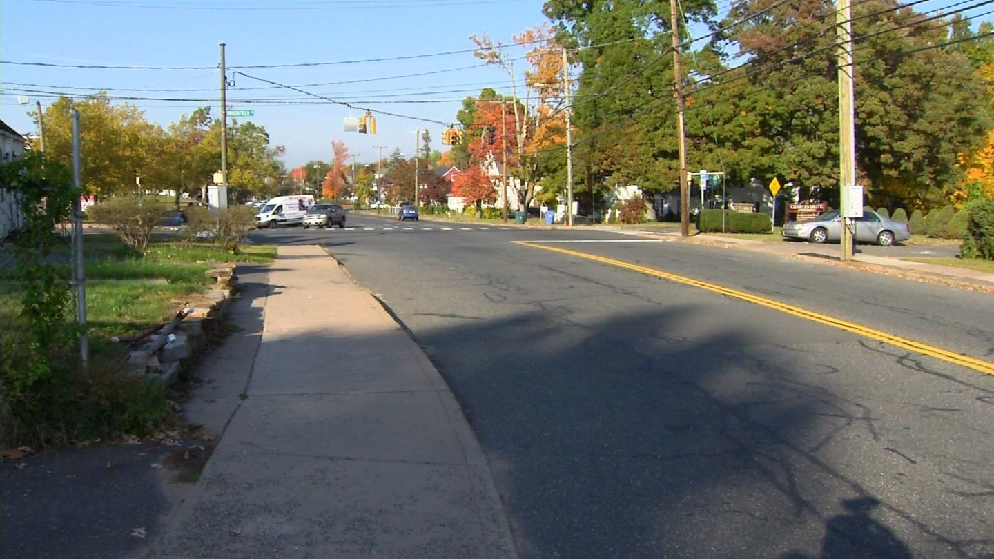 A 12-year-old girl was hit by a vehicle near a middle school in Manchester on Tuesday. (WFSB)