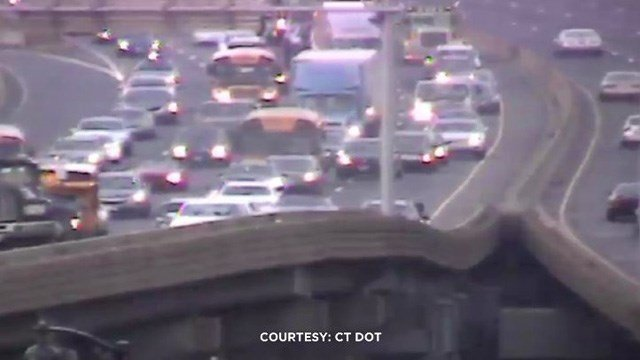 The DOT reported a crash that caused 7 miles worth of delays on I-84 east in Hartford. (DOT photo)
