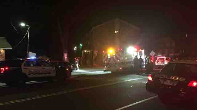 Crews responded to a shooting in New Britain on Wednesday night (WFSB)
