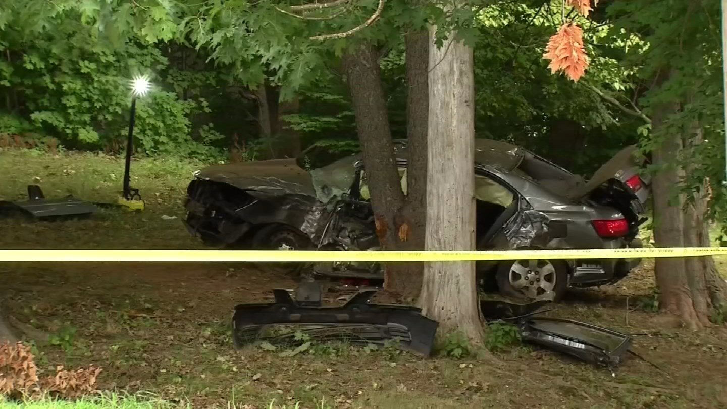 A passenger was killed in a stolen crash pursuit in Meriden back in August. (WFSB file photo)