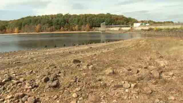 The Norwich Public Utilities Reservoir is so low that the company has asked customers to conserve water (WFSB)