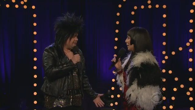 James Corden and Cher on Thursday night's Late Late Show. (CBS photo)