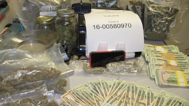 Evidence seized by state and Montville police in Thursday's bust. (State police photo)