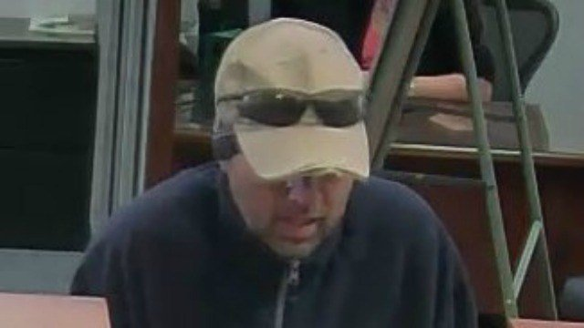 Police are looking for this man who they believe robbed banks in Connecticut, Rhode Island and Vermont. (Simsbury PD)