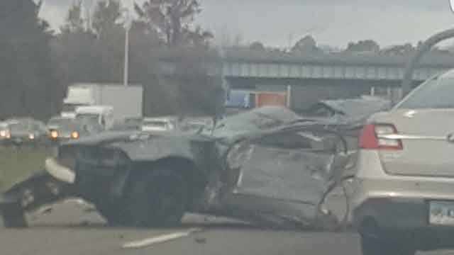 eriousinjuries were reported in a motor vehicle crash on Interstate 91 in Meriden. (Kristenruko)