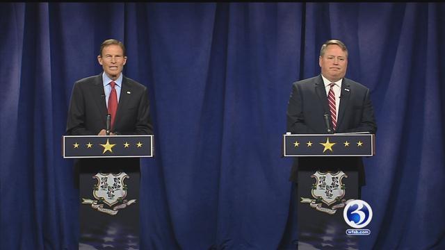 Sen. Richard Blumenthal debated challenger Dan Carter in October. (Face the State)