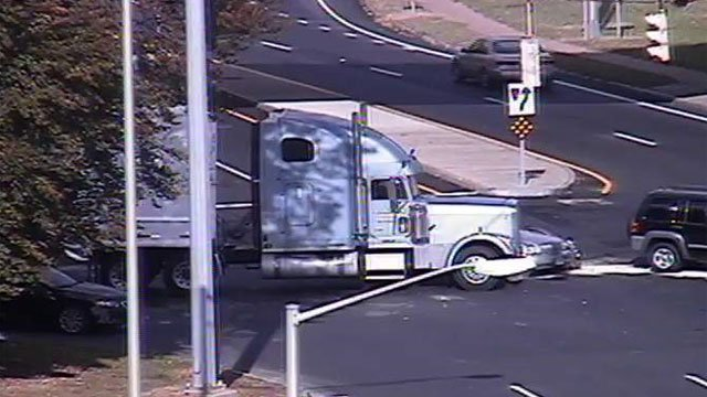 Route 75 closed due toa tractor-trailer crash. (DOT)