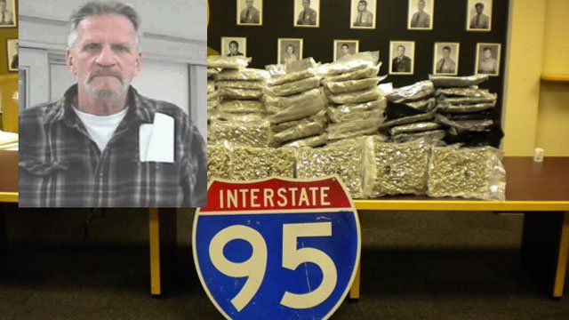 John Paul Demorest was arrested after police said they found 124 pounds of marijuana in his car.  (Maryland State Police)