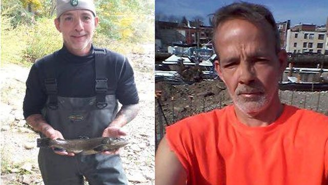 """Police said Vince Rollins and Vance Coffin were believed to be """"considered armed and dangerous.""""  (CT State Police)"""