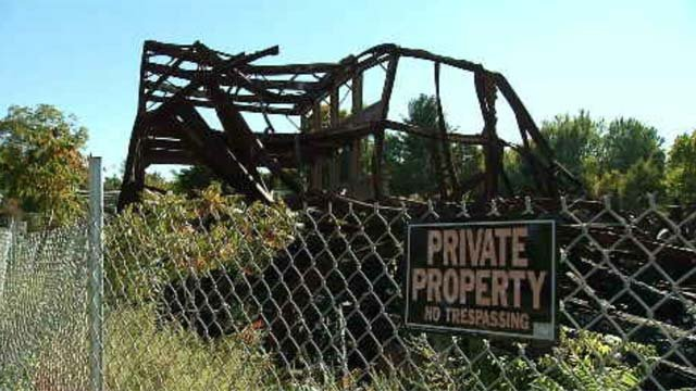 The town of Somers is expected to clean up this old mill site (WFSB)