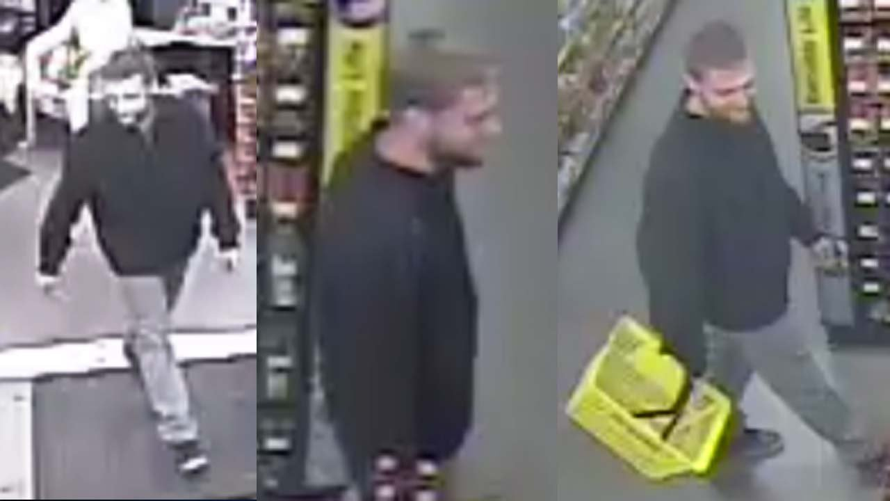 Police in Watertown are looking to identify this suspected shoplifter. (Watertown police photos)