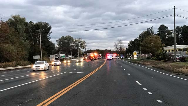 A serious crash closed Route 20 in East Granby on Tuesday (WFSB)
