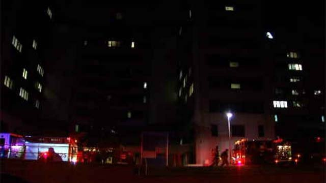 Emergency crews responded to a fire at the VA Hospital in West Haven on Tuesday (WFSB)