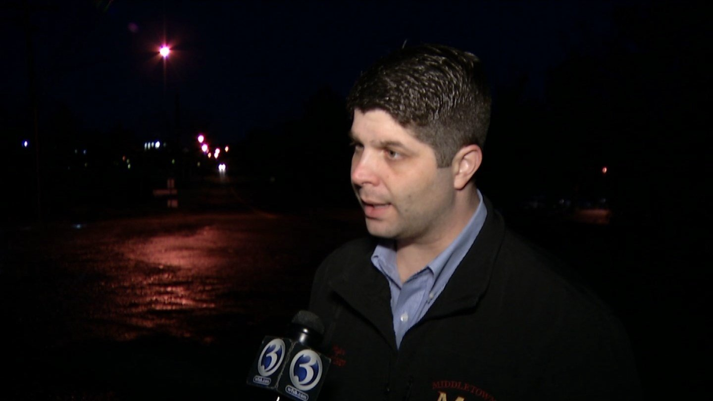 Mayor Dan Drew said the water main break is expected to affect most customers in the city. (WFSB photo)