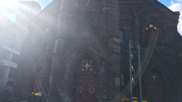 The mass of intention was held at St. Patrick - St. Anthony Church on Church Street in Hartford. (WFSB)